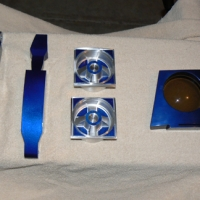 Painted utility arms and power couplings with the anodized radar eye.