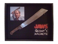 Quint's Machete (in a shadow box display)