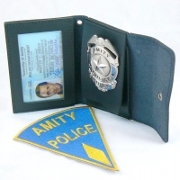 Chief Martin Brody's Badge, Wallet and Patch