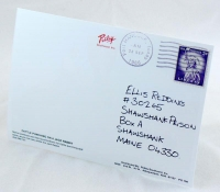 Andy's postcard to Red (back, with vintage stamp)