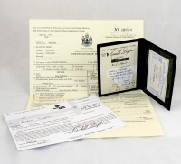Randall Stephen's Birth Certificate, Driver's License, Social Security Card, and Certificate of Deposit Signature Card